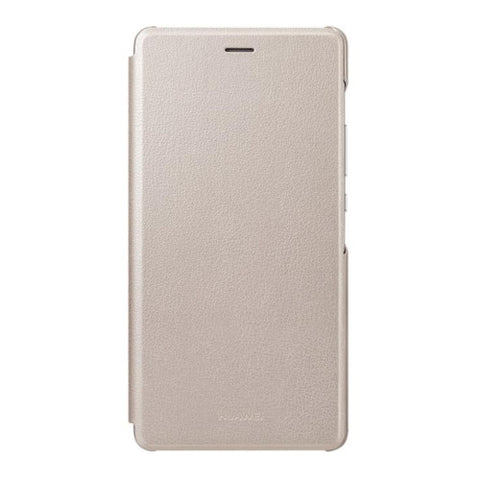 Huawei P9 Lite Solid Color Horizontal Flip Leather Case(Gold)