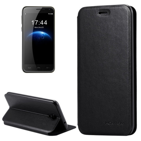HOMTOM HT3 & HT3 Pro (S-MPH-1790 & S-MPH-1829) Cloth Texture Horizontal Flip Leather Case with Holder & Magnetic Buckle(Black)