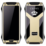 VKWorld Crown V8 Cell Phone 4.9mm Ultra-slim Pedometer Bluetooth FM 1.64 inch Dual SIM Network: 2G(Gold)