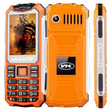 VKworld Stone V3S Quadruple Phone Anti-Low Temperature Daily Waterproof Shockproof Dustproof 2.4 inch 21 Keys Dual LED Light FM  BT Dual SIM Network: 2G Russian Keyboard(Orange)