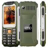 VKworld Stone V3S Quadruple Phone Anti-Low Temperature Daily Waterproof Shockproof Dustproof 2.4 inch 21 Keys Dual LED Light FM  BT Dual SIM Network: 2G Russian Keyboard(Green)