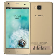 CUBOT Echo 16GB Network: 3G 5.0 inch Android 6.0 MTK6580 Quad-Core 1.3GHz RAM: 2GB Dual SIM(Gold)