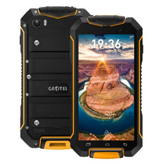 Geotel A1 Triple Proofing Phone 8GB Network: 3G Waterproof Dustproof Shockproof 4.5 inch Android 7.0 MTK6580M Quad Core RAM: 1GB GPS BT WiFi FM Dual SIM(Orange)