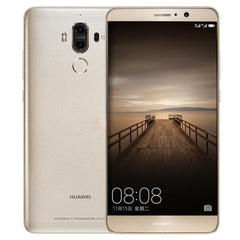 Huawei Mate 9 MHA-AL00 4GB+64GB Dual Rear Cameras Fingerprint Identification 5.9 inch EMUI 5.0 (Android 7.0) Kirin 960 Octa Core up to 2.4GHz RAM: 4GB OTG WiFi BT GPS Dual SIM(Gold)