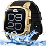 SNOPOW W1S Smart Watch Phone IP68 Waterproof Android 4.4 WiFi / 2.0MP Camera / Bluetooth / GPS Network: 3G(Gold)