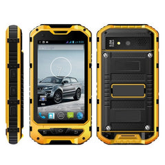 A8 Waterproof Phone 8GB Network: 3G IP68 Waterproof Dustproof Shockproof 4.0 inch MTK6582 Quad Core up to 1.2GHz RAM: 1GB(Yellow)