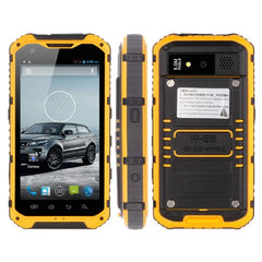 A9 Waterproof Phone 8GB Network: 3G IP68 Waterproof Dustproof Shockproof 4.3 inch Android 4.2 MTK6582 Quad Core 1.2GHz RAM: 1GB(Yellow)