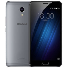 Meizu M3 Max / Meilan Max S685Q 3GB+64GB mTouch Fingerprint Identification mCharge Quick Charge 6 inch IPS Screen Meizu Flyme 5 (Based on Android 6.0 OS) Helio P10 Octa Core Network: 4G/3G/2G(Grey)