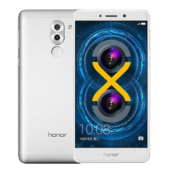 Huawei Honor 6X 32GB Network: 4G Fingerprint Identification 8MP Front Camera + Dual Rear Camera(12MP + 2MP) Dual SIM  5.5 inch IPS Screen Android 6.0 OS Kirin 655 Octa Core 2.1GHz RAM: 3GB Support WLAN BT4.1 GPS 128GB Micro SD Card(Silver)