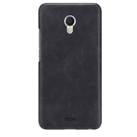 MOFI Meizu MX6 Crazy Horse Texture Leather Surface PC Protective Case Back Cover(Black)