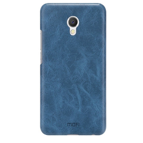 MOFI Meizu MX6 Crazy Horse Texture Leather Surface PC Protective Case Back Cover(Dark Blue)