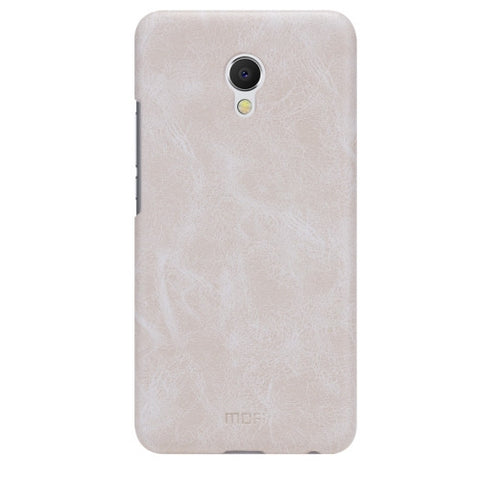 MOFI Meizu MX6 Crazy Horse Texture Leather Surface PC Protective Case Back Cover(White)