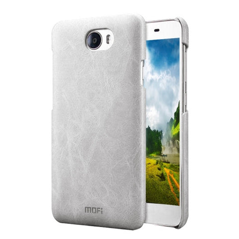 MOFI Huawei Honor 5 Crazy Horse Texture Leather Surface PC Protective Case Back Cover(White)