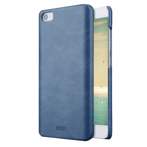 MOFI Xiaomi Mi 5 Crazy Horse Texture Leather Surface PC Protective Case Back Cover(Dark Blue)