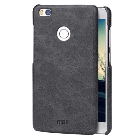MOFI Xiaomi Mi 4S Crazy Horse Texture Leather Surface PC Protective Case Back Cover(Black)