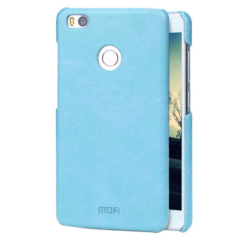 MOFI Xiaomi Mi 4S Crazy Horse Texture Leather Surface PC Protective Case Back Cover(Blue)