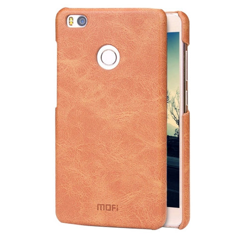 MOFI Xiaomi Mi 4S Crazy Horse Texture Leather Surface PC Protective Case Back Cover(Brown)