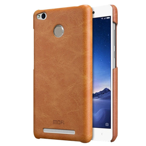 MOFI Xiaomi Redmi 3 Pro Crazy Horse Texture Leather Surface PC Protective Case Back Cover(Brown)
