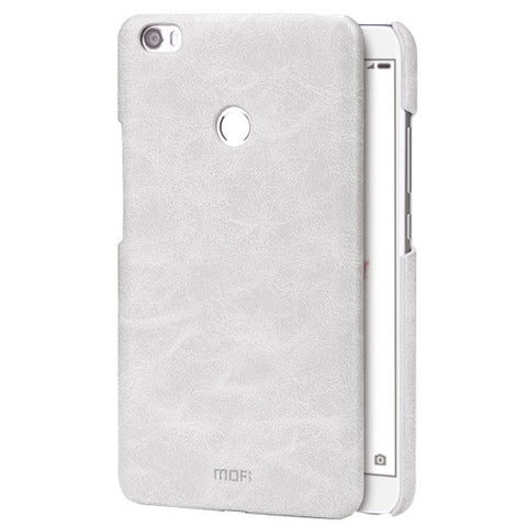 MOFI Xiaomi Mi Max Crazy Horse Texture Leather Surface PC Protective Case Back Cover(White)