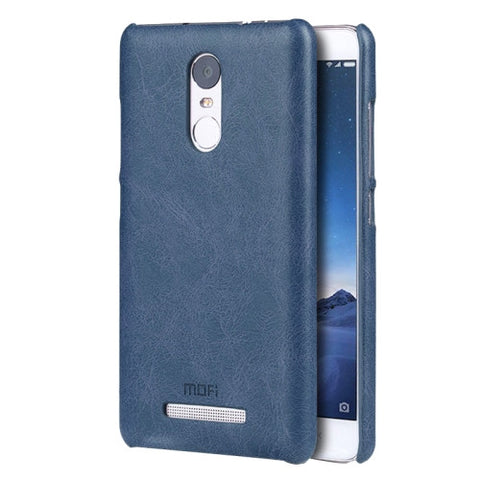 MOFI Xiaomi Redmi Note 3 Crazy Horse Texture Leather Surface PC Protective Case Back Cover(Dark Blue)