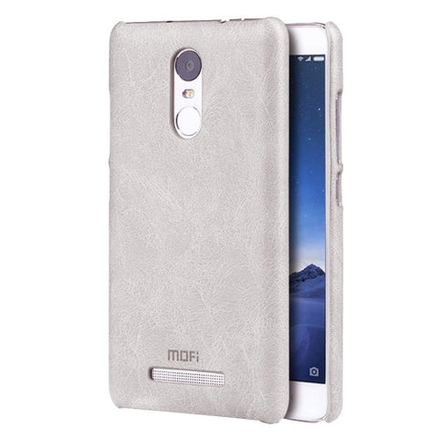 MOFI Xiaomi Redmi Note 3 Crazy Horse Texture Leather Surface PC Protective Case Back Cover(White)