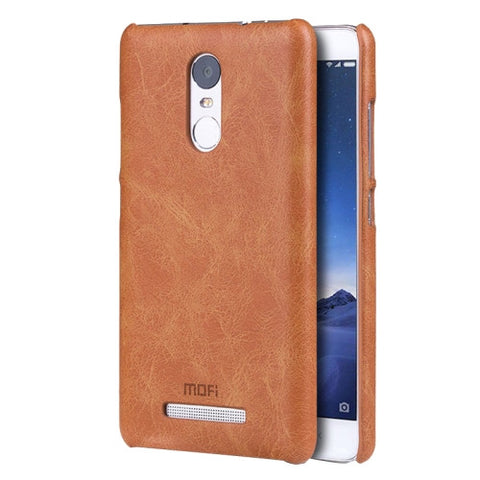 MOFI Xiaomi Redmi Note 3 Crazy Horse Texture Leather Surface PC Protective Case Back Cover(Brown)
