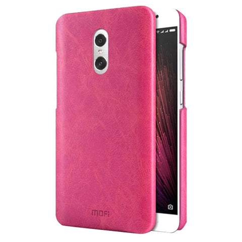 MOFI Xiaomi Redmi Pro Crazy Horse Texture Leather Surface PC Protective Case Back Cover(Magenta)