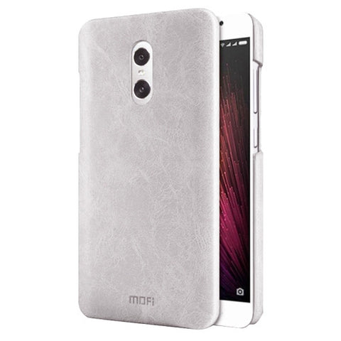 MOFI Xiaomi Redmi Pro Crazy Horse Texture Leather Surface PC Protective Case Back Cover(White)
