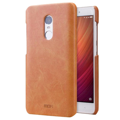 MOFI Xiaomi Redmi Note 4 Crazy Horse Texture Leather Surface PC Protective Case Back Cover(Brown)