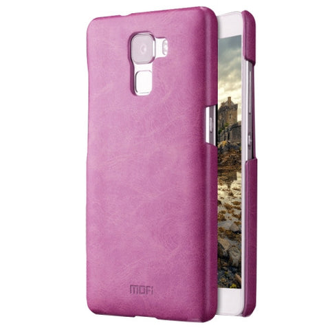 MOFI Huawei Honor 7 Crazy Horse Texture Leather Surface PC Protective Case Back Cover(Purple)
