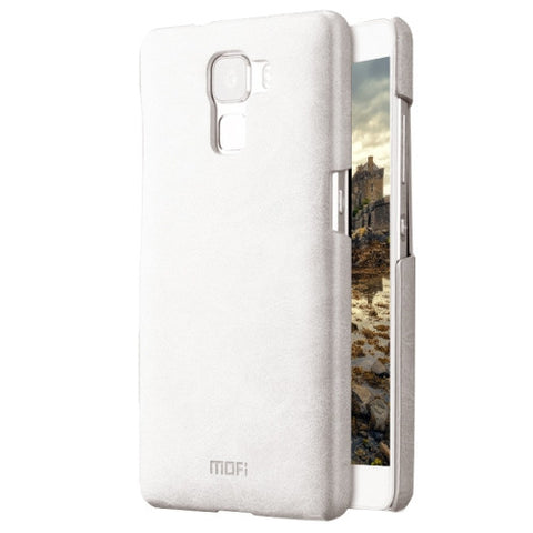 MOFI Huawei Honor 7 Crazy Horse Texture Leather Surface PC Protective Case Back Cover(White)
