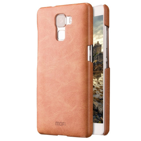 MOFI Huawei Honor 7 Crazy Horse Texture Leather Surface PC Protective Case Back Cover(Brown)