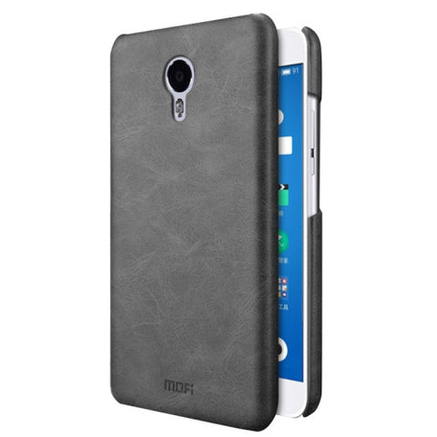 MOFI Meizu M3 Note Crazy Horse Texture Leather Surface PC Protective Case Back Cover(Black)