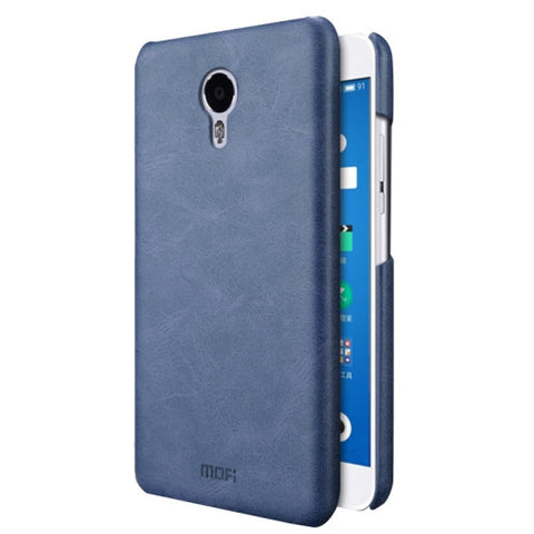 MOFI Meizu M3 Note Crazy Horse Texture Leather Surface PC Protective Case Back Cover(Dark Blue)