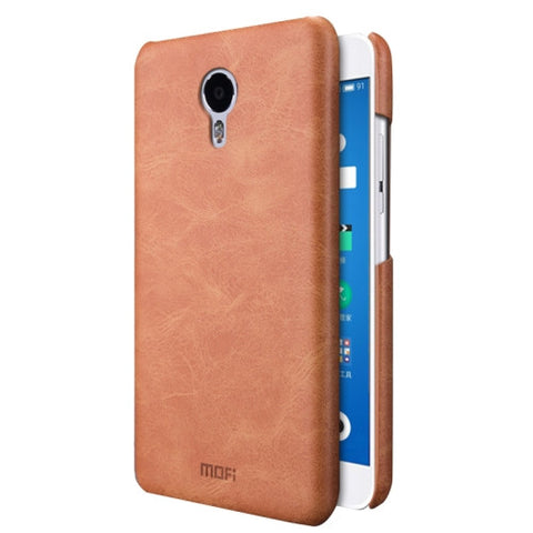 MOFI Meizu M3 Note Crazy Horse Texture Leather Surface PC Protective Case Back Cover(Brown)