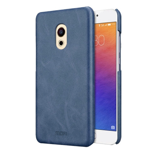 MOFI Meizu PRO 6 Crazy Horse Texture Leather Surface PC Protective Case Back Cover(Dark Blue)
