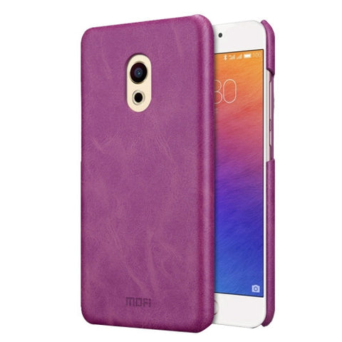 MOFI Meizu PRO 6 Crazy Horse Texture Leather Surface PC Protective Case Back Cover(Purple)