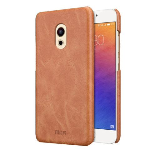 MOFI Meizu PRO 6 Crazy Horse Texture Leather Surface PC Protective Case Back Cover(Brown)