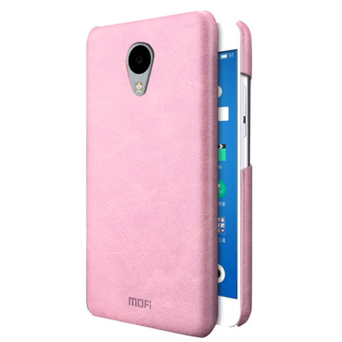MOFI Meizu M3 Crazy Horse Texture Leather Surface PC Protective Case Back Cover(Pink)