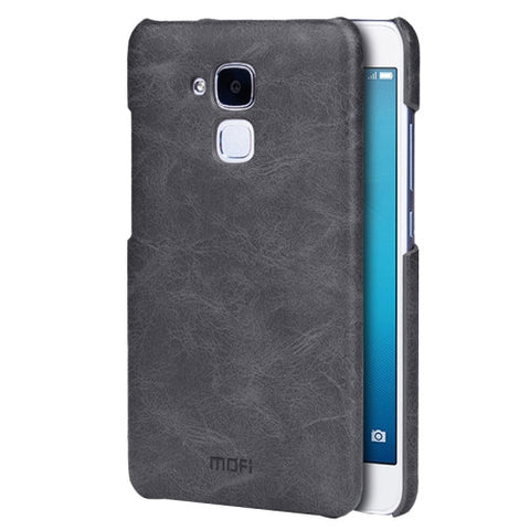 MOFI Huawei Honor 5C Crazy Horse Texture Leather Surface PC Protective Case Back Cover(Black)