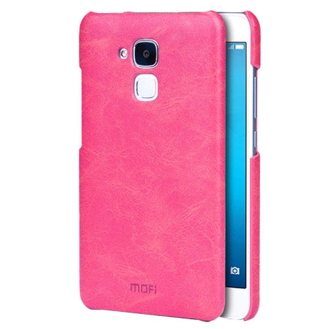 MOFI Huawei Honor 5C Crazy Horse Texture Leather Surface PC Protective Case Back Cover(Magenta)