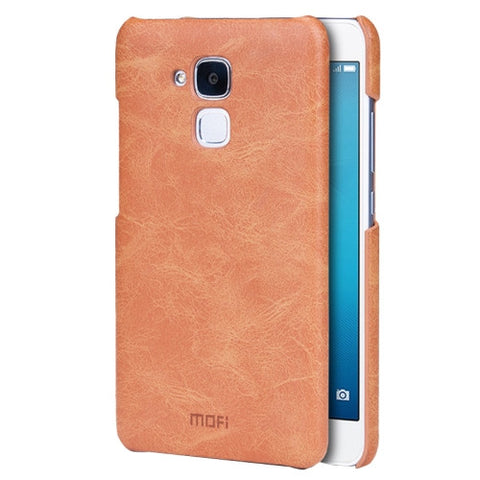 MOFI Huawei Honor 5C Crazy Horse Texture Leather Surface PC Protective Case Back Cover(Brown)