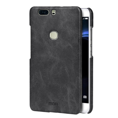 MOFI Huawei Honor V8 Crazy Horse Texture Leather Surface PC Protective Case Back Cover(Black)