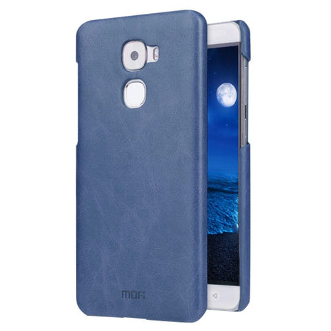 MOFI Letv Le Pro 3 Crazy Horse Texture Leather Surface PC Protective Case Back Cover(Dark Blue)