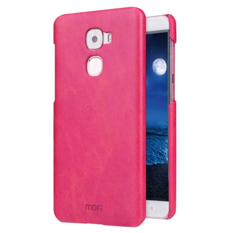MOFI Letv Le Pro 3 Crazy Horse Texture Leather Surface PC Protective Case Back Cover(Magenta)