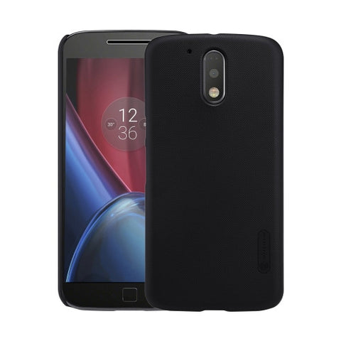 NILLKIN Frosted Shield for Motorola Moto G Plus (4th Gen.) Concave-convex Texture PC Protective Case Back Cover(Black)