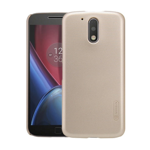 NILLKIN Frosted Shield for Motorola Moto G Plus (4th Gen.) Concave-convex Texture PC Protective Case Back Cover(Gold)