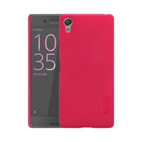 NILLKIN Frosted Shield for Sony Xperia X Performance Concave-convex Texture PC Protective Case Back Cover(Red)