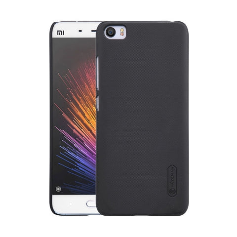NILLKIN Frosted Shield Xiaomi Mi 5 Concave-convex Texture PC Protective Case Back Cover(Black)