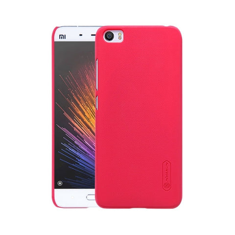 NILLKIN Frosted Shield Xiaomi Mi 5 Concave-convex Texture PC Protective Case Back Cover(Red)
